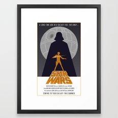 Star Wars Poster Framed Art Print