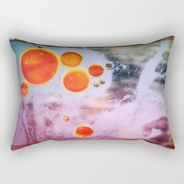 Digital Virus Orange One Bubbles Rectangular Pillow