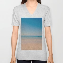 play azul Unisex V-Neck