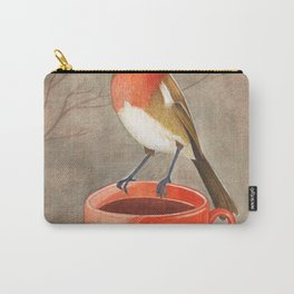 coffee loving robin bird Carry-All Pouch