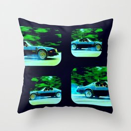 Bandit Rides Smokey 3 Throw Pillow