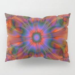 Sacred Geometry Art- Fractal Art- Delphinian- Orange Art- Flower- Energy Art- Purple Art Pillow Sham