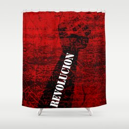 Fist Revolution Shower Curtain
