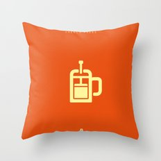 Coffee: The French Press Throw Pillow