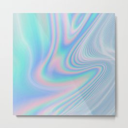 Hologram Wave Metal Print
