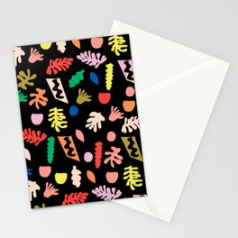 Shapes b fun minimal bright colorful botanical leaves and geometric shapes kids room decor Stationery Cards