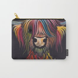 Scottish Highland Cow ' OLIVER ' by Shirley MacArthur Carry-All Pouch
