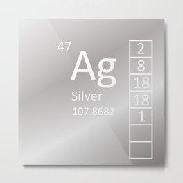Heavy Metals - Silver Metal Print