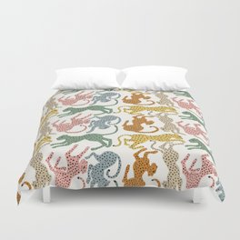 Rainbow Cheetah Duvet Cover