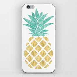 Gold Pineapple iPhone Skin