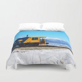 Caboose - Alaska Train Duvet Cover