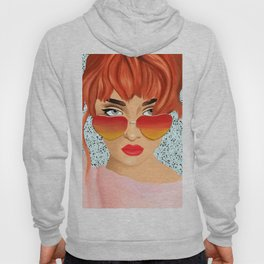 The Girl With The Heart Glasses Hoody