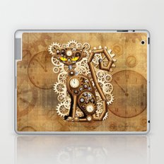 Steampunk Cat Vintage Style Laptop & iPad Skin