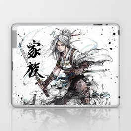 Samurai Girl with Japanese Calligraphy - Family - Ciri Parody Laptop & iPad Skin