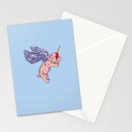 Flying Pigasus Unicorn Stationery Cards