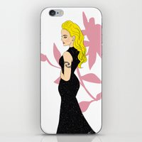 mom iPhone & iPod Skins featuring Mom by LizDrawsss