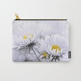Flowers white macro 072 Carry-All Pouch