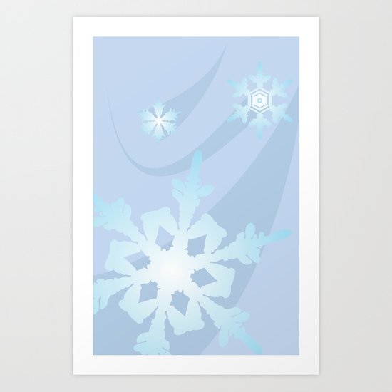 Winter Flakes Art Print