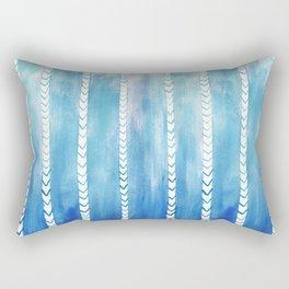 Ocean art, Indigo blue pattern Rectangular Pillow