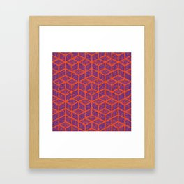 Kenna (Orange and Violet) Framed Art Print