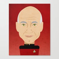 picard Canvas Prints featuring Captain Picard by Sam Del Valle