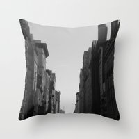 broadway Throw Pillows featuring Broadway by Loved and Lost