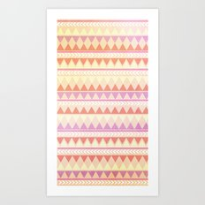 Summer Aztec Pattern Art Print