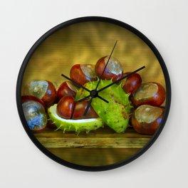 Conker Season Wall Clock