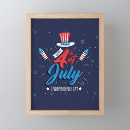 HAPPY INDEPENDENCE DAY Framed Mini Art Print