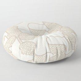 Ribbon in Tan Floor Pillow