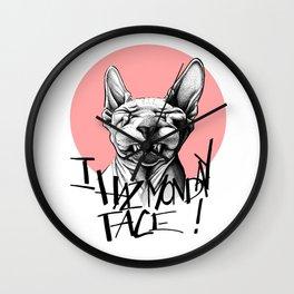 I Haz Monday Face Wall Clock