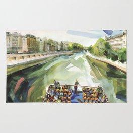 A choppy Seine makes for a fun ride on the Bateau Mouche - Paris Rug