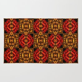 Colorful Ornate Pattern Design Rug