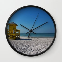 Siesta Key Station Wall Clock