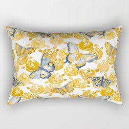 Butterflies 'n Roses Rectangular Pillow
