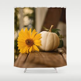 Autumnal Table Shower Curtain