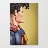 superman Canvas Prints featuring Superman by MrMarkCann