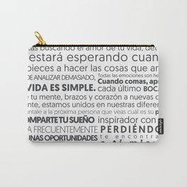 Es tu vida by Jota Torcida B&W Carry-All Pouch