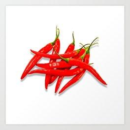 Spicy red pepper Art Print