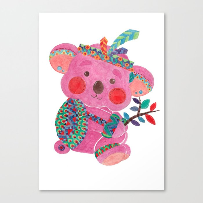 The Pink Koala Canvas Print