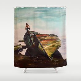 Far From Here Shower Curtain