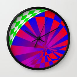 Folded Dimensions Wall Clock