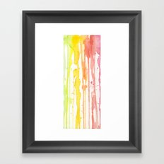 Rainbow Watercolor Texture Pattern Abstract Framed Art Print