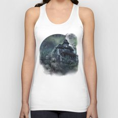 The Haunted House Unisex Tank Top