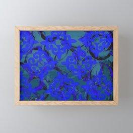 Blue Fleur de Lis Framed Mini Art Print