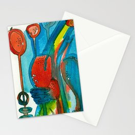 Poppies and Pods I Stationery Cards