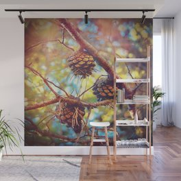Autumn pine cones  #photography Wall Mural