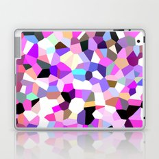 Modern Abstract Geometric Pattern Pink Teal Pastel  Laptop & iPad Skin