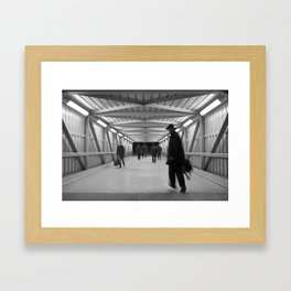 To Train Framed Art Print