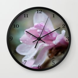 spring pink magnolia flower photography.   Wall Clock
